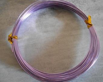 Purple 1 mm aluminum wire