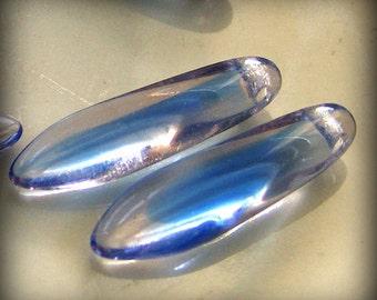 Czech Glass Dagger Beads 16x5mm Beads 2 Tone Blue Pink (12pk) SRB-16x5D-2TBP