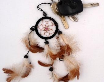 DreamCatcher Keychain, jewelry purse, backpack charm, key catch dreams, Native American keychain