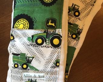 Tractors Burp Cloth Set- Item 92