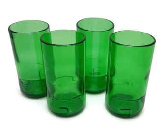 Set of Four (4) Upcycled Jameson Highball Glasses
