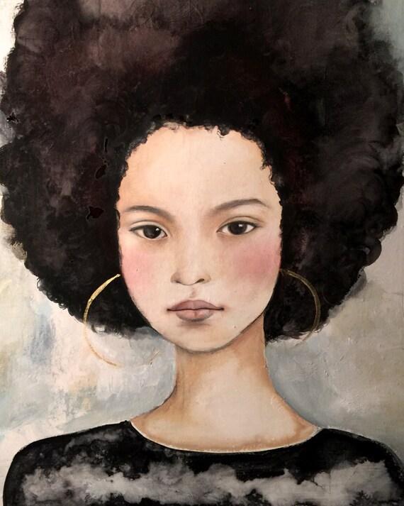 dreamy girl  art print