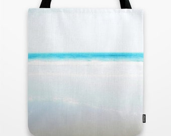 Blue Photo Tote Bag Beach Bag Ocean Photo Tote Bag Choose your Size