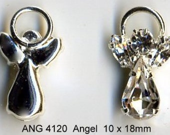 Angel Swarovski Crystal -clear body and clear wings - Quantity 2