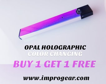 X2 Holographic JUUL Skin/Wrap OPAL Color Changing Chameleon Juul Decal - Juul Gifts Vape Gift Juul Cover Pods