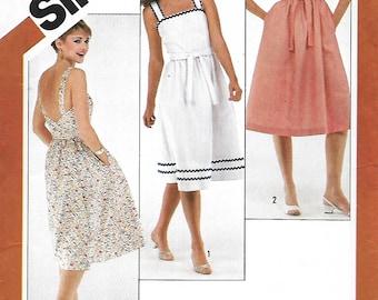 Simplicity 5442 Misses Low Back-Wrap Sundress Sewing Pattern, Size 8-10-12,  UNCUT