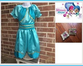 Shimmer and Shine, Shimmer Birthday, Genie costume, Genie outfit, Shimmer outfit, Shine outfit,