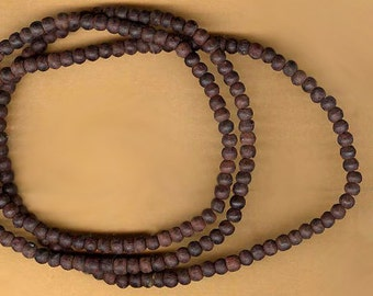 vintage rosewood beads organic natural wood 4mm ONE HUNDRED antique beads spacers neutral beads