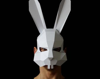 BUNNY Mask - Make your own paper bunny rabbit mask with this template