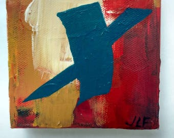 The letter X an original acrylic painting on canvas by JLF.