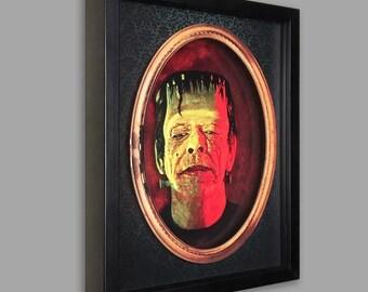 Frankenstein Shadowbox Art