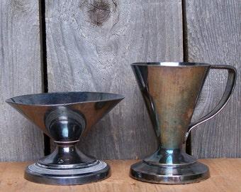 Vintage Vortex Silverplated Icecream Collectibles