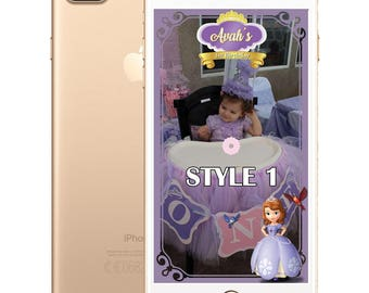Sofia the First Filters - 5 Different Styles!