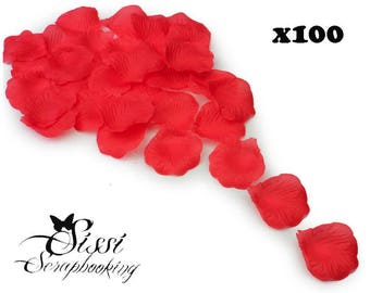 WHOLESALE LOT OF 100 PETALS OF ROSE RED ART DECO CANDLE TABLE CLOTH