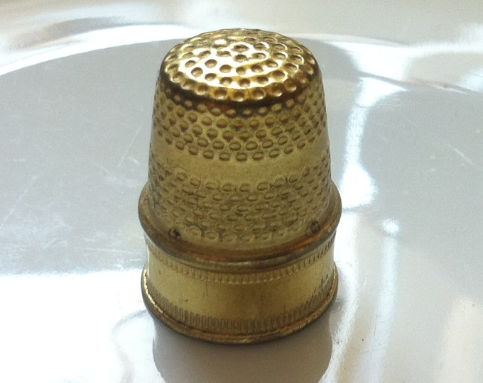Vintage Old brass Thimble size 16 mm