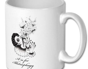 Witches brew Macabre witches alphabet mug A is for Allotriophagey/ Gothic mug  witches brew mug