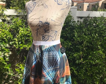 Plaid influenced circle skirt