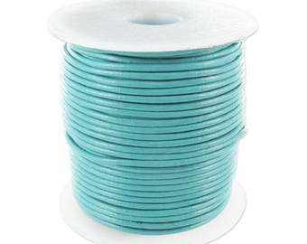 1 mm - 25 m - coil leather Turquoise - discount