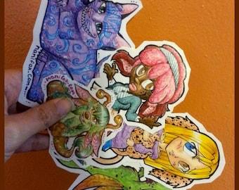 Custom Sticker Commissions: A unique one-of-a-kind sticker design you choose!