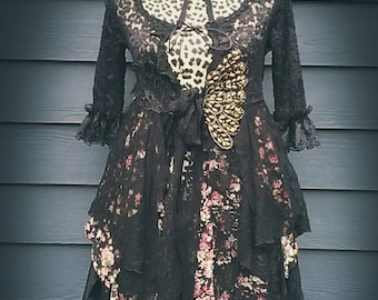 Gypsy black lacey robe / duster.
