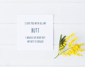 Funny Valentine Card, Valentines Card, Rude Valentines Card, Valentines Day Card, Valentine Card, Funny Valentine, Valentines Day Cards