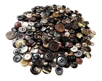 Huge Lot of brown vintage sewing buttons (300 pcs)