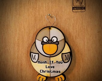 Goose Patchwork Christmas Ornament