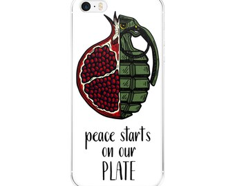 peace starts on our plate iPhone case [5/5s/se/6/6plus] white