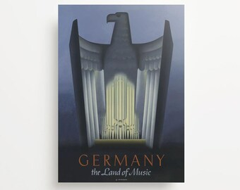 Vintage Travel Poster Germany Giclée Print