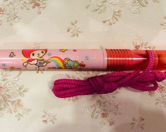 Vintage My Melody pen with rope and a whistle,made in japan 1987