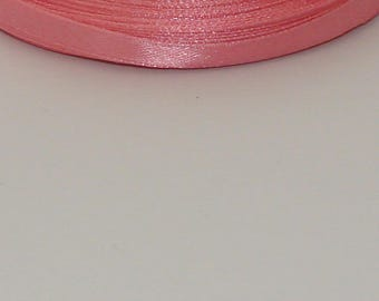 25 m width 6mm salmon colored satin ribbon