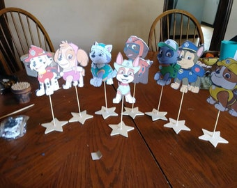 Paw Patrol table center pieces