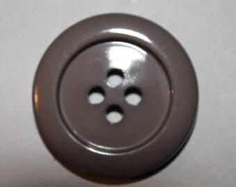large, round button, color, plain taupe j.