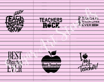 Teachers appreciation cookie stencils school education set of 6 designs  Sl59