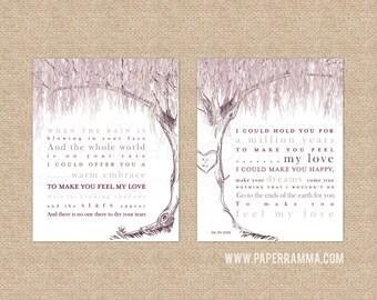 Willow Anniversary, Wedding Song Lyrics, Song Lyric Art, Anniversary, Willow Tree Art, Make You Feel My Love, Adele Lyrics // W-L22-2PS HH4