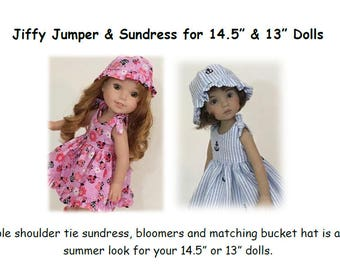 Jiffy Jumper & Sundress Pattern for 14 and 13 inch dolls