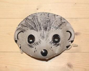 Hedgehog mask Soviet vintage kids mask RARE Vintage kids mask Cardboard mask Animal mask for kids Woodland kids mask Kids carnival mask