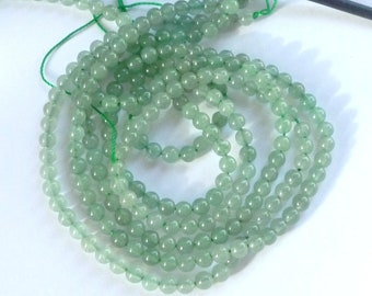 4mm Green Aventurine round beads, FULL STRAND
