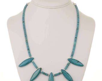Turquoise Bead Necklace Limited Edition Navajo Design
