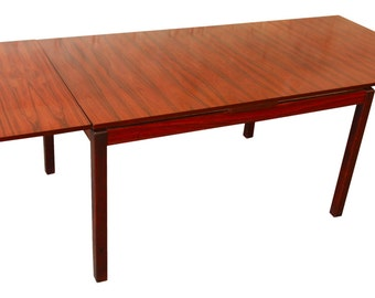 Norwegian Rosewood Dining Table by Heggen / Scandinavian Modern / Danish Modern / Mid-Century Modern Dining Table