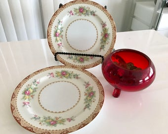 Sale Set of Two Sango China Occupied Japan Luncheon Plates -- 1940's