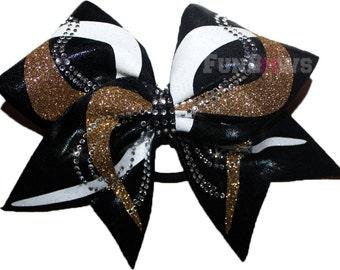 Gorgeous Swirls Allstar  Rhinestone Cheer Bow by FunBows !!