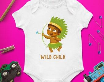 Wild child baby bodysuit, Wild child baby shower, Wild child first birthday, Wild child 1st birthday, Baby girl bodysuit, Baby boy bodysuit