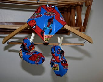 Spiderman Booties and bib