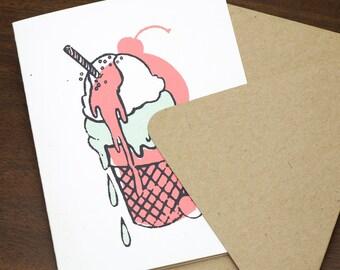 Ice Cream Cone | Signature Series Greeting Card