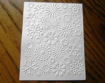 SNOWFLAKES Embossed Card Stock Panels Perfect for Scrapbooking and Card Making - Set of 12