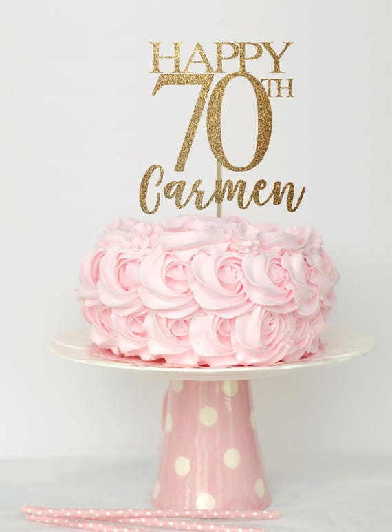 70 birthday cake topper 70 birthday decorations 70th