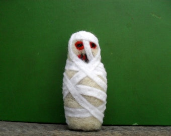 cat toy catnip mummy  needle felted