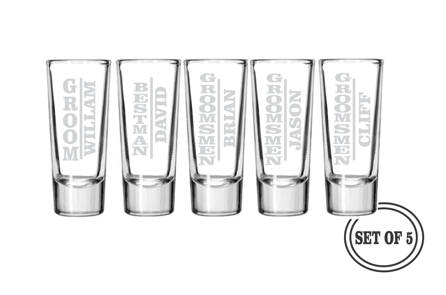 Engraved Shot Glasses Wedding Favors Wedding Shot Glasses 144 Custom ...