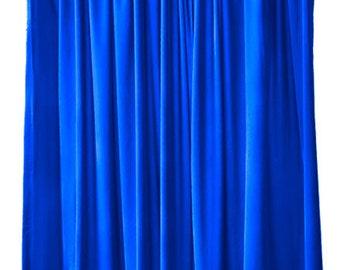 Modern 120 inch H Pink Velvet Curtain Long Panel Custom Size